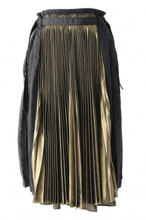 GOLD PLEATS SKIRT - 17S-SK-02