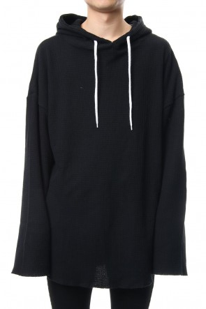 NIL DUE / NIL UN TOKYO 18SS PULLOVER WAFFLE HOODIE (BLACK)