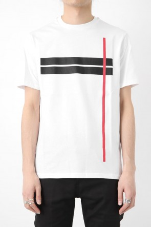 Neil Barrett 18SS MINIMAL DOUBLE LINE T-SHIRT
