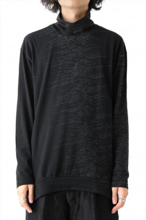 The Viridi-anne 17-18AW Inlay Cut Jacquard Bottle neck T