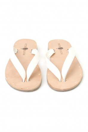 PETROSOLAUM 17SS Leather Sandals White