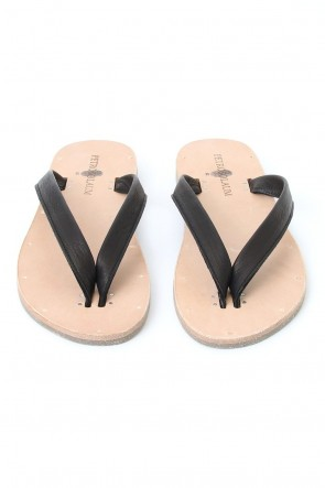 PETROSOLAUM 17SS Leather Sandals Black