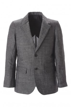 Yamauchi 20SS Bamboo linen Tailored jacket Charcoal Gray