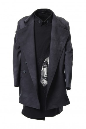 Yohji Yamamoto 18-19AW 2 layer double jacket face embroidery