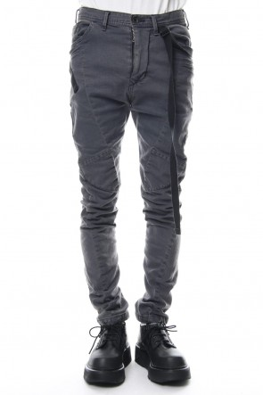 JULIUS 19PS TWISTED SKINNY PANTS Charcoal