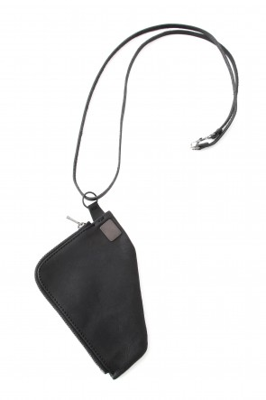 Leather Coin Case necklace Triangle Type
