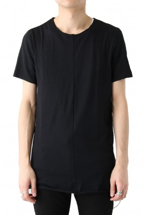 FAGASSENT18SSCombination Fabric With Linen Classic Seamed T-shirt