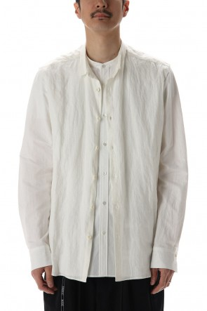 DUELLUM 20-21AW Cotton Layared Shirt  White / White Stripe