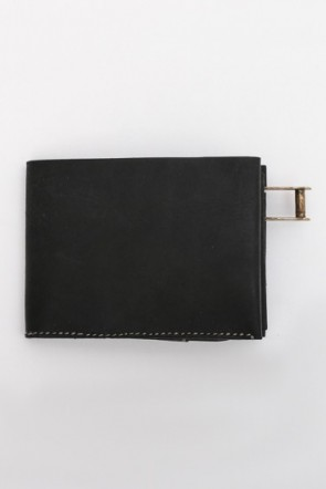 iolom Classic Cow Leather Wallet Black