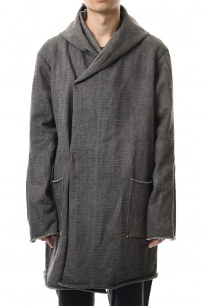 WARE 19-20AW Heavy Jersey Hooded Coat Carbon