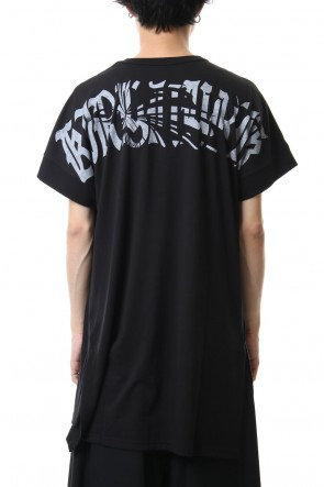 kiryuyrik 20SS Drop Shoulder T-Shirts Black x White Print