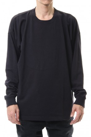 KAZUYUKI KUMAGAI 20SS 28/-super long cotton plain stitches crew neck L/S D.Navy