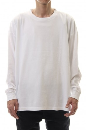 KAZUYUKI KUMAGAI 20SS 28/-super long cotton plain stitches crew neck L/S White