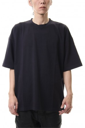 KAZUYUKI KUMAGAI 20SS 28/-super long cotton plain stitches crew neck S/S D.Navy