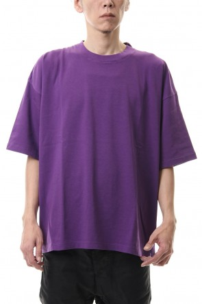KAZUYUKI KUMAGAI 20SS 28/-super long cotton plain stitches crew neck S/S Purple