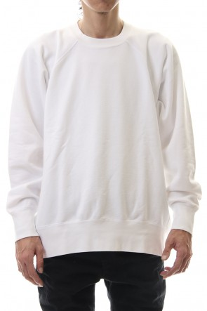 KAZUYUKI KUMAGAI 20SS Compact light fleece crew neck L/S White