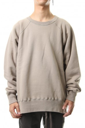 KAZUYUKI KUMAGAI 19-20AW Cold die fleece L/S sweat L-Beige