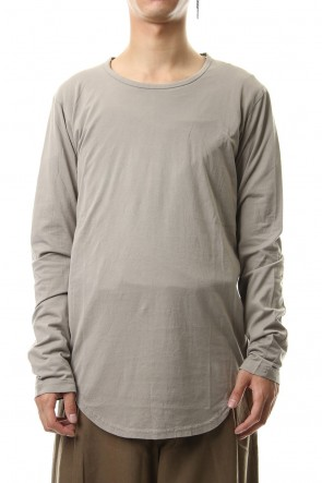 KAZUYUKI KUMAGAI 19-20AW 80/2 Tightness plain stitches crew neck L/S cut&sewn L-Beige