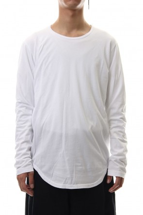 KAZUYUKI KUMAGAI 19-20AW 80/2 Tightness plain stitches crew neck L/S cut&sewn White