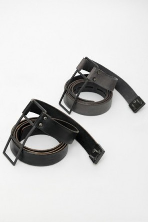 Hook Leather Belt 25mm