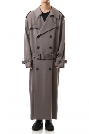 LITHIUM HOMME 19-20AW MAXI OVERSIZED TRENCH COAT