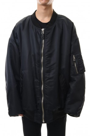 LITHIUM HOMME 19-20AW OVERSIZED MA-1 Black