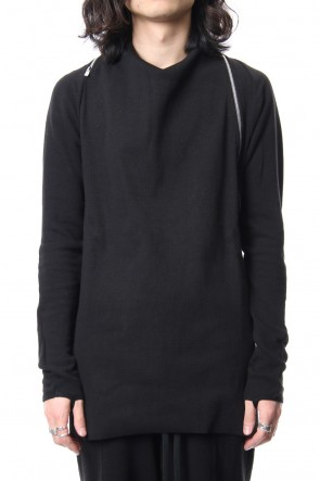 LEON LOUIS 18SS DRAPE COLLAR ZIP SWEAT