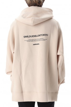 NIL DUE / NIL UN TOKYO 20SS EMBROIDERY LOGO HOODIE SAND