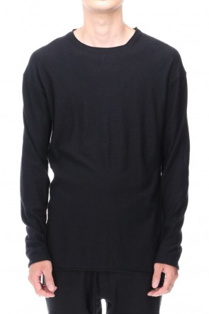 DEVOA 20-21AW High-Gauge Long Sleeve Knit Cotton / Cashmere Black