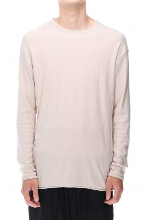 DEVOA 20-21AW High-Gauge Long Sleeve Knit Cotton / Cashmere White Gray