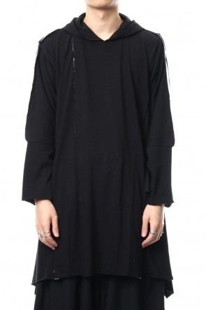 B Yohji Yamamoto 18-19AW Switch Hooded Long Sleeve - NV-T60-074