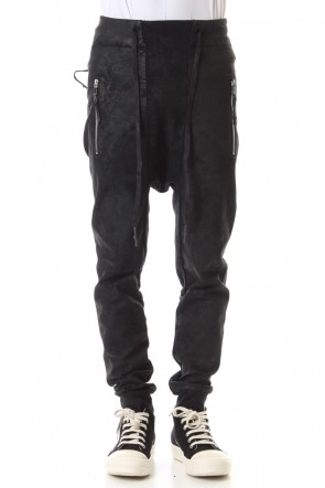 11 BY BORIS BIDJAN SABERI 19-20AW Waxed Coating Jogger Pants