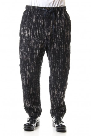 individual sentiments 20SS Random Stripe Printed Cotton Cropped Pants - PA89L-LC29