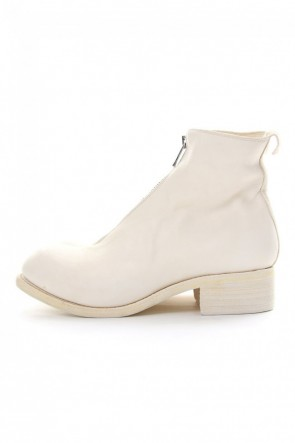 Guidi 18-19AW Front Zip Boots Double Sole - Horse Full Grain Leather White