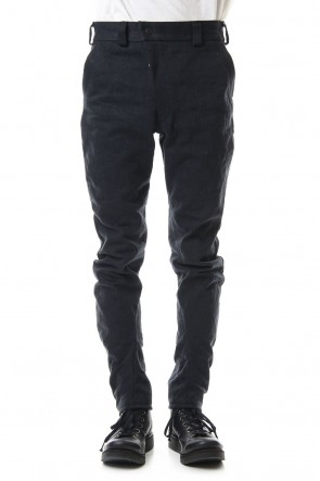 DEVOA 20SS DEVOA Uneven Yarn Selvedge Denim Slim pants - Black