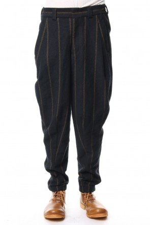 DEVOA 18-19AW Relax Pants Wool Stripe