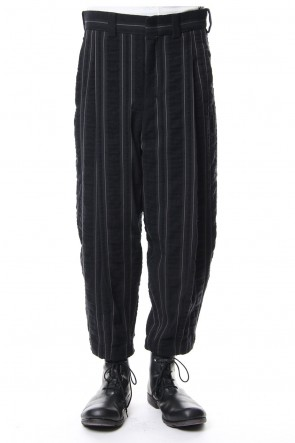 DEVOA 18-19AW Cropped Pants Wool/ Cotton Stripe