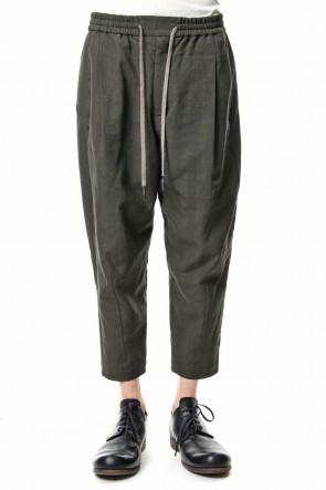 DEVOA 19SS Cropped Pants Cotton Glen Check - Moss Green