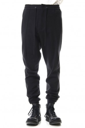 DEVOA 20SS Easy pants Cotton jersey Black