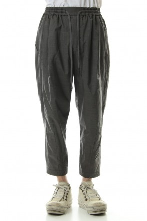 DEVOA 19SS Cropped pants Virgin wool silk