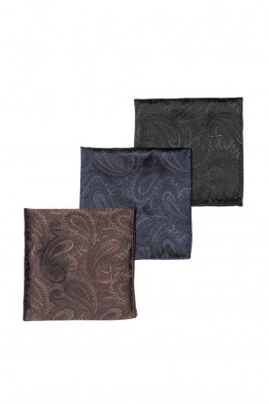 QL Mansion Maker 17-18AW SIGNATURE SILK PAISLEY JACQUARD POCKET SQUARE