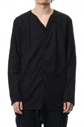 RIPVANWINKLE 18-19AW Slab Serge Natural Stretch Over Dye Shirts RB-017 Black