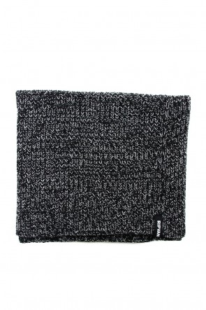 RIPVANWINKLE 18-19AW 3GG Wool Cotton W Snood RB-056 T.Black