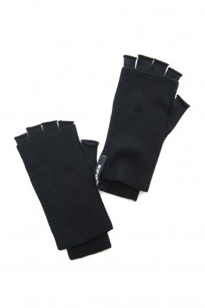 RIPVANWINKLE 18-19AW Washable Wool Jersey Knit Gloves RB-057 Black