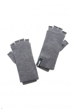 RIPVANWINKLE 18-19AW Washable Wool Jersey Knit Gloves RB-057 M.Gray