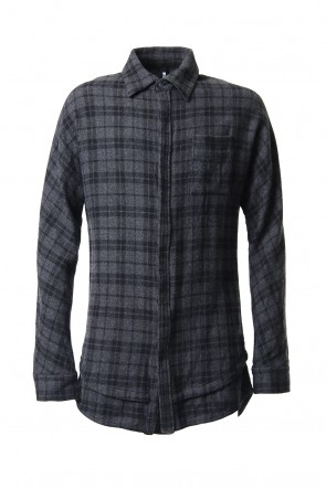 RIPVANWINKLE 19-20AW NEL LAYER SHIRT Shadow Gray