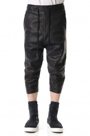 RIPVANWINKLE 19-20AW CROPPED LEATHER PANTS