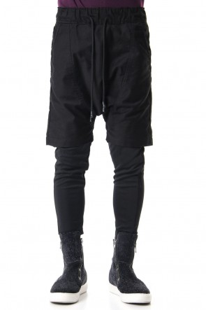 RIPVANWINKLE 19-20AW LAYERED SARROUEL PANTS