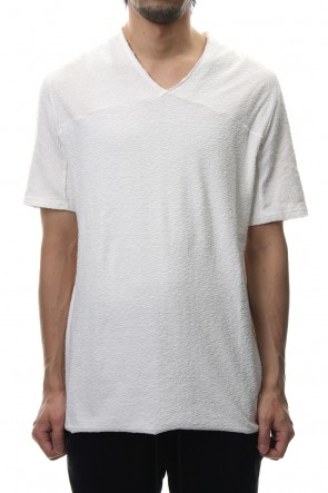 RIPVANWINKLE 19SS CROSS NECK T-SHIRT White