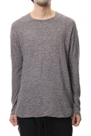 RIPVANWINKLE 19SS DROP SHOULDER L/S  T-SHIRT Slub Gray